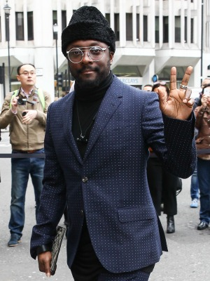 Celebrities attend the Gucci catwalk show at Westminster Abbey Will.i.am