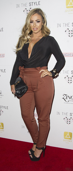 Geordie Shore's Holly Hagan at the In The Style launch, London 6 October 2016
