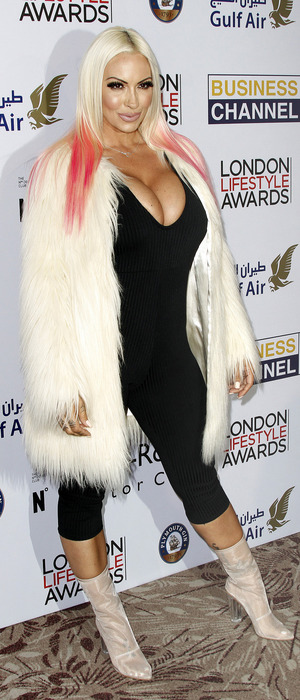 Jodie Marsh attends the London Lifestyle Awards, London, 3 October 2016