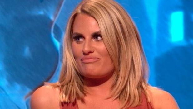 Danielle Armstrong appears on Celebrity Juice, 7 Oct 2016