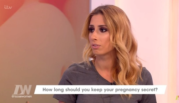 Stacey Solomon talks about pregnancy on Loose Women 5 October 2016