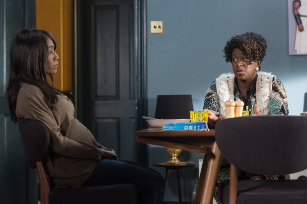EastEnders, Kim talks to Denise about the baby, Mon 10 Oct
