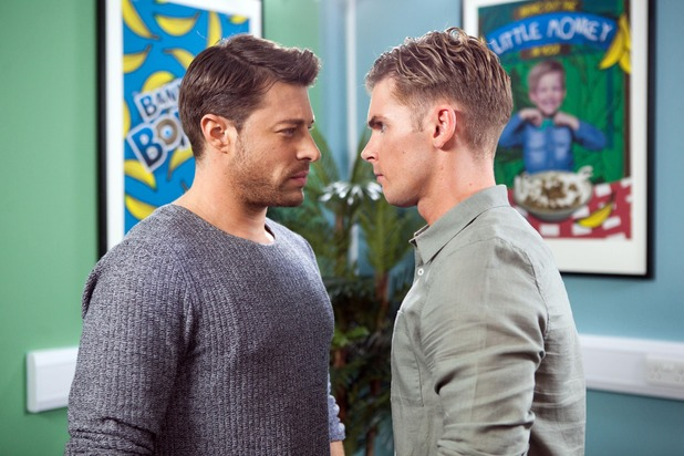 Hollyoaks, Ste and Ryan square up, Mon 10 Oct