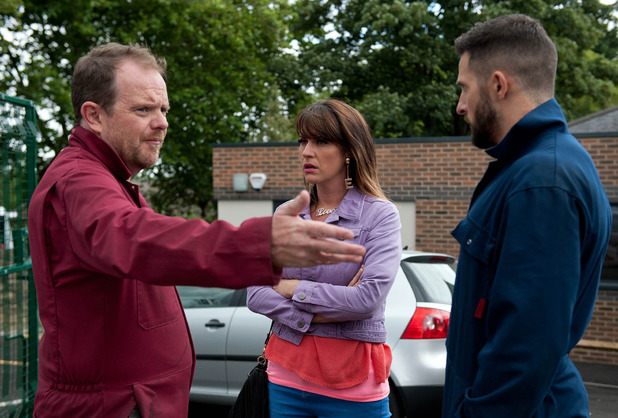 Emmerdale, Dan catches Kerry at the clinic, Thu 6 Oct