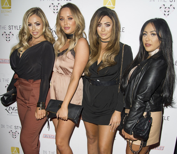 Geordie Shore stars Sophie Kasaei, Charlotte Crosby, Holly Hagan, Chloe Ferry attend In The Style's 3rd birthday party, London, 6 October 2016