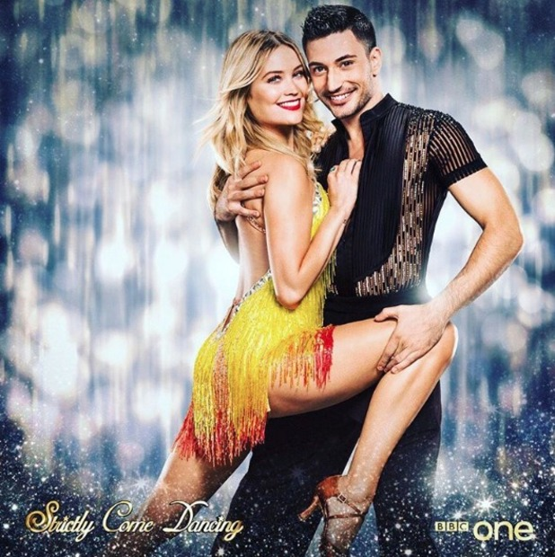 Laura Whitmore and dance partner Giovanni Pernice, Strictly Come Dancing, 19 September 2016