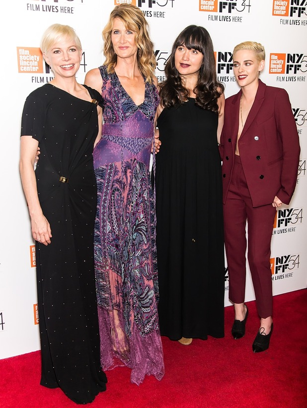 Michelle Williams, Laura Dern, Lily Gladstone and Kristen Stewart attend the 'Certain Women' premiere during the 54th New York Film Festival at Alice Tully Hall, Lincoln Center on October 3, 2016 in New York City.
