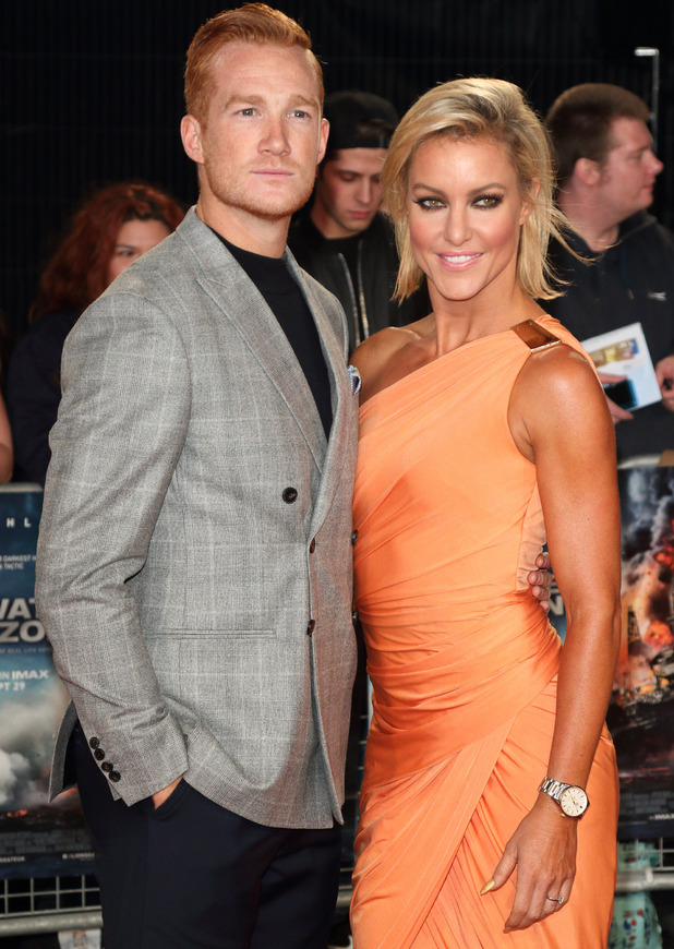 Greg Rutherford and Strictly partner Natalie Lowe, The European Premiere of 'Deepwater Horizon' held at Cineworld Leicester Square 26 September