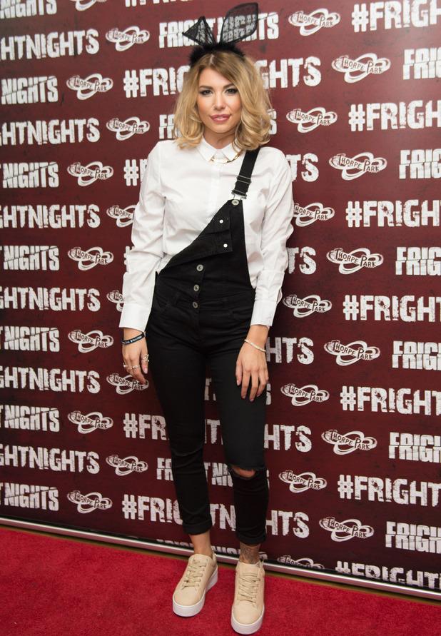 Love Island star Olivia Buckland at Thorpe Park Fright Night launch, Thorpe Park, 6 October 2016