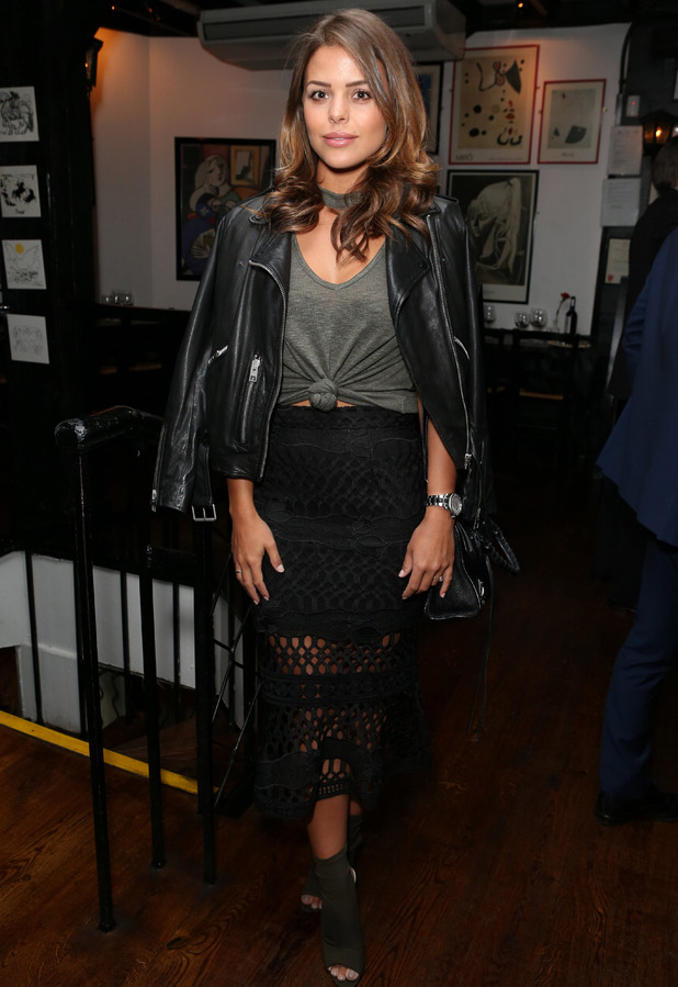 TOWIE star Chloe Lewis attends First Dates star Fred Sirieix's book launch, London 5 October 2016