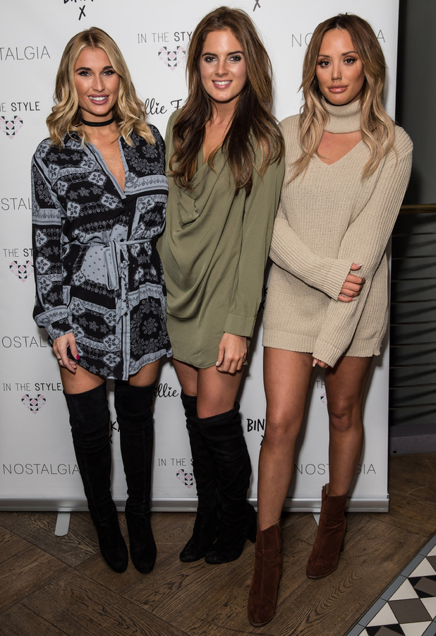 Charlotte Crosby, Binky Felstead and Billie Faiers attend the In The Style press event, London 6 October 2016