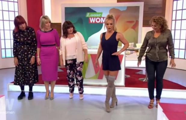 Britney Spears on Loose Women 4 October 2016