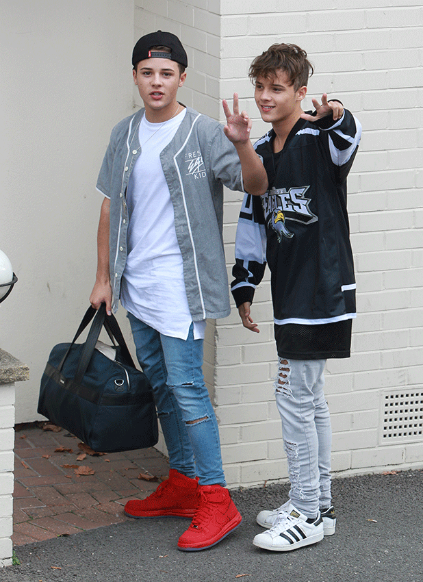 Brooks Way seen arriving at the Fountain Studios for the X Factor rehearsals, in London 6 October 2016