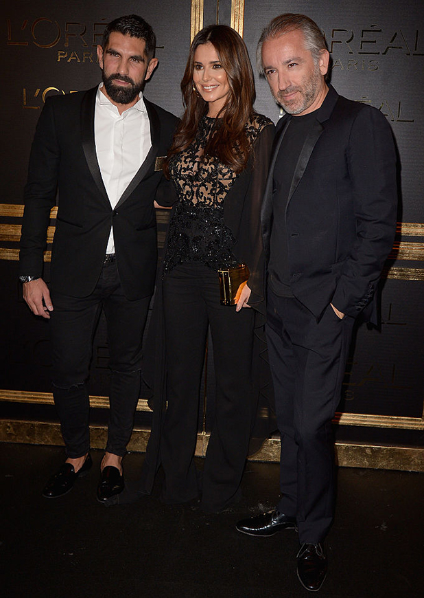 Cheryl Cole (C), Cyril Chapuy (R) and guest attends the L'Oreal Paris Gold Obsession Party as part of the Paris Fashion Week Womenswear Spring/Summer 2017