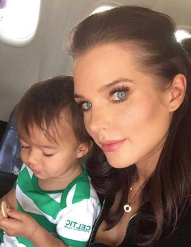 Helen Flanagan and daughter Matilda 2016