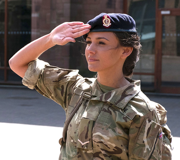 Michelle Keegan in BBC's Our Girl Series 2, 2016