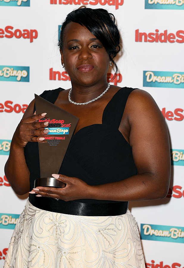 Tameka Empson attends the Inside Soap Awards at The Hippodrome on October 3, 2016 in London, England. (Photo by Gareth Cattermole/Getty Images)