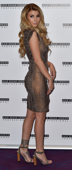 Love Island star Olivia Buckland at the Hair Rehab London's Luxe Collection hair extensions launch, London, 10 October 2016