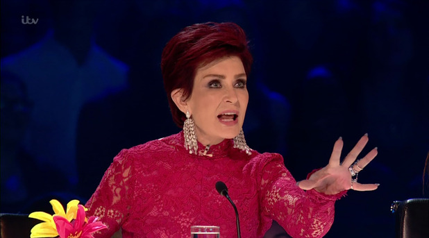 Bratavio perform for the judges during the live shows of 'The X Factor'. Broadcast on ITV1HD Sharon Osbourne