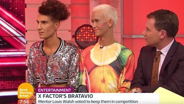 Bratavio appear on Good Morning Britain, ITV 10 October