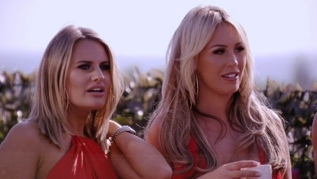 Danielle Armstrong and Kate Wright, TOWIE, Marbella 10 October
