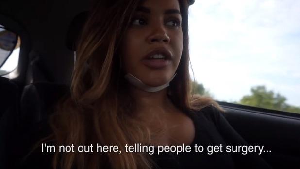 Lateysha Grace on surgery, YouTube 11 October