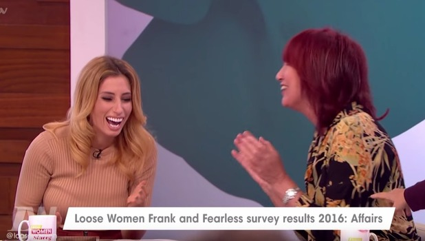 Stacey Solomon and Janet Street Porter on Loose Women, ITV 11 October
