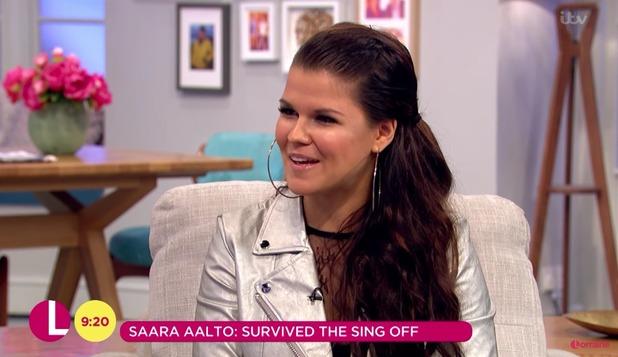 X Factor's Saara Aalto on Lorraine, 10/10/16