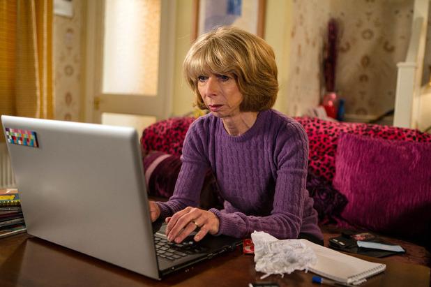 Corrie, Gail finds David's video, Fri 14 Oct