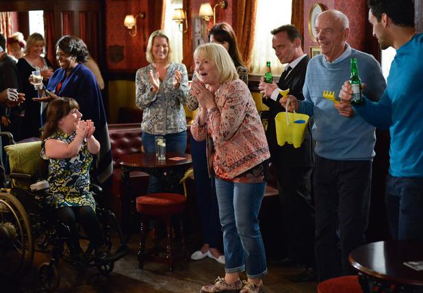 EastEnders, Pam and Les's leaving do, Fri 14 Oct