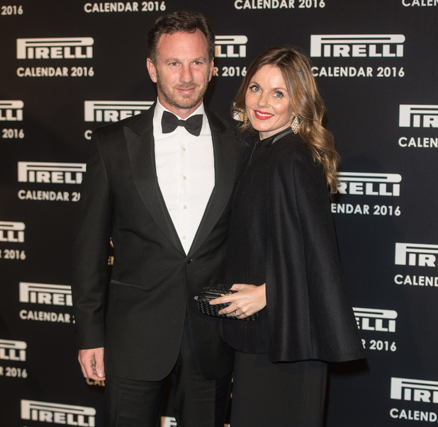 Geri Halliwell and husband Christian Horner, Gala evening to celebrate the 2016 Pirelli Calendar held at the Roundhouse November 2015