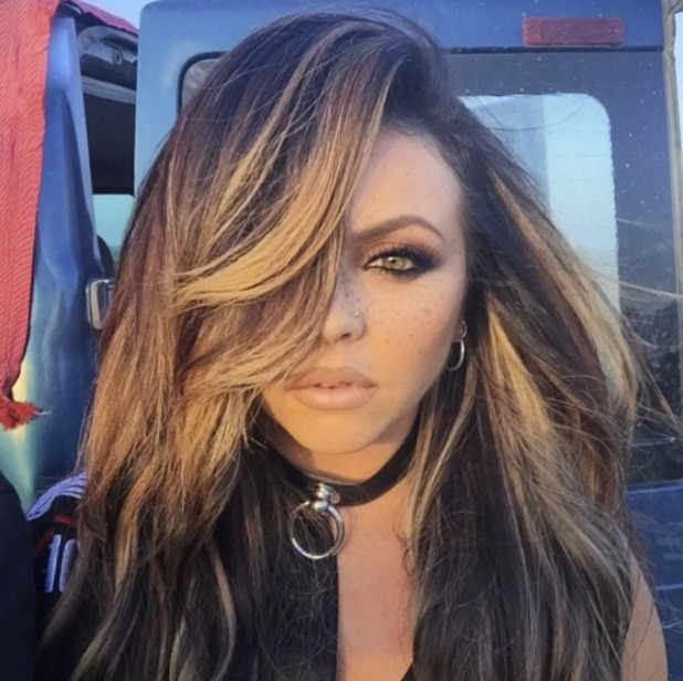 Jesy Nelson wears Lily Lashes in NYC, make-up by Adam Burrell, 12 October 2016
