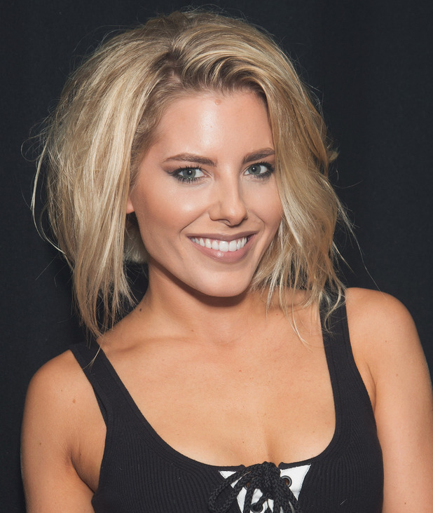 Mollie King poses backstage at G-A-Y Heaven on October 8, 2016 in London, England.