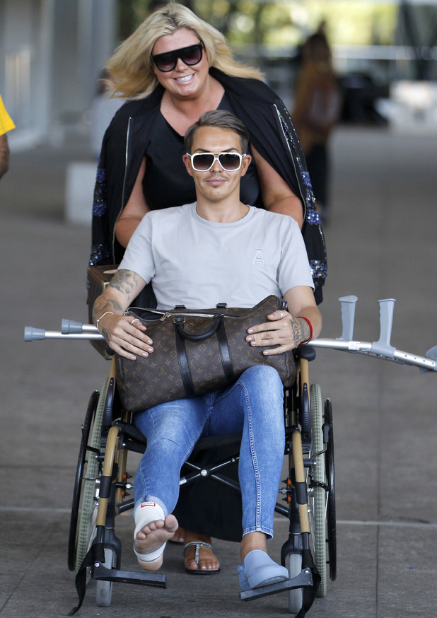 Gemma Collins and Bobby Norris arrive in Marbella, Spain for TOWIE filming 23 September
