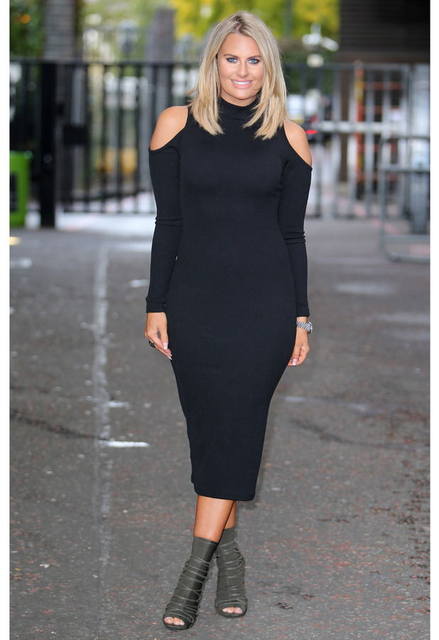 TOWIE star Danielle Armstrong outside the ITV Studios, London 12 October 2016