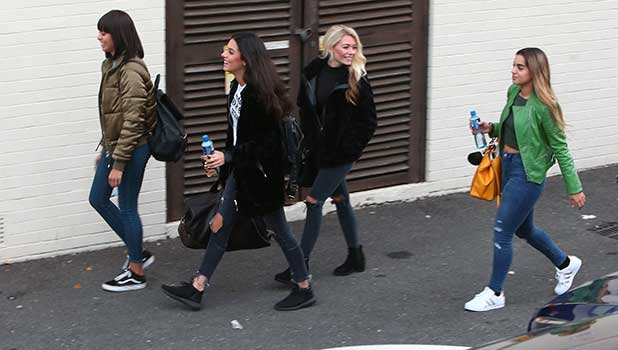 Four of Diamonds arriving at the X Factor Studios, in London, for their first live show. 14 October 2016