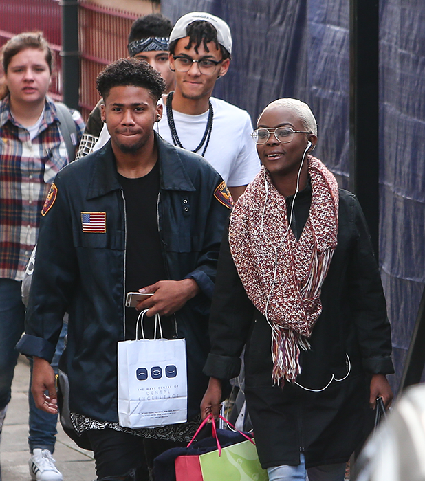 X Factor finalists arrive at Fountain studios for rehearsals ahead of this weekend's live show Gifty Louise and Jordan Lee 2016