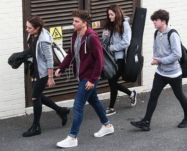 X Factor finalists arrive at Fountain studios for rehearsals ahead of this weekend's live show Sam Lavery, Matt Terry, Ryan Lawrie, Emily Middlemas 2016