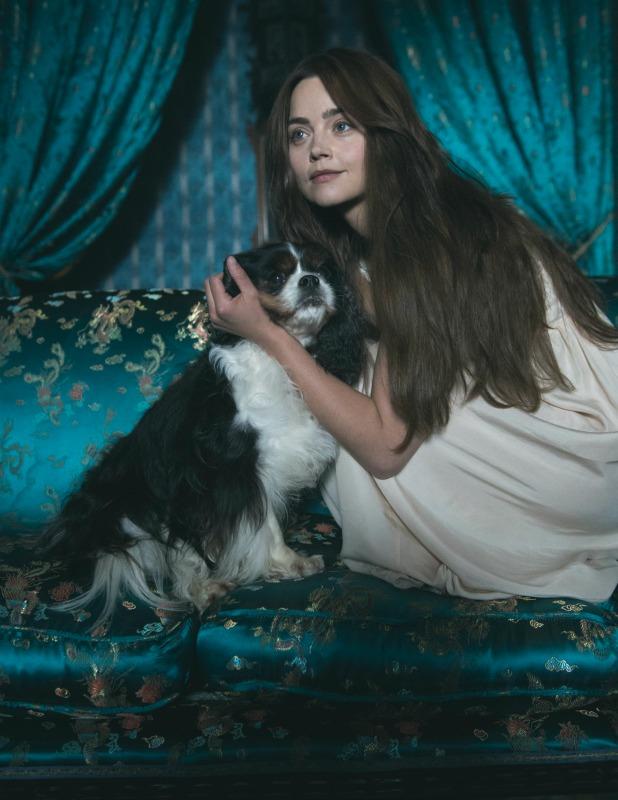 JENNA COLEMAN as Victoria and her dog Dash Victoria, ITV