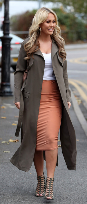 TOWIE star Kate Wright filming in Essex, 19 October 2016