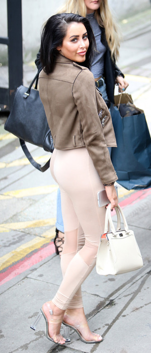 Celebrity Big Brother star Marnie Simpson outside the ITV Studios, London, 19 October 2016