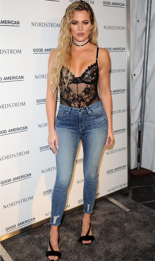 Keeping Up With The Kardashians star Khloe Kardashian at Good American launch party, Los Angeles, 19 October 2016