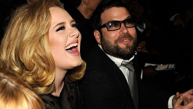 Adele and boyfriend Simon Konecki, Grammy Awards, LA February 2012