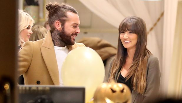 Megan McKenna and Pete Wicks filming new scenes for TOWIE 16 October