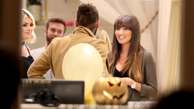 Megan McKenna and Pete Wicks filming for TOWIE, 18 October
