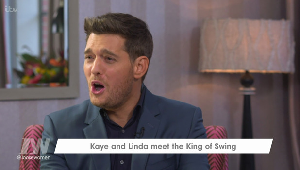 Michael Buble on Loose Women, ITV 21 October
