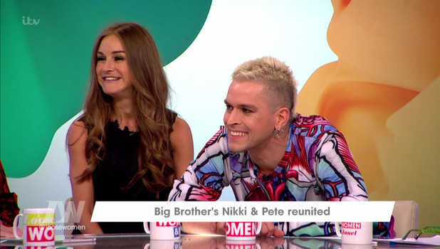 Nikki Grahame and Pete Bennett on Loose Women, ITV 20 October