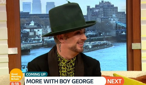 Boy George on Good Morning Britain 19 October 2016