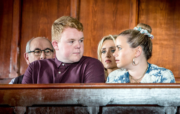 Corrie, Clayton's verdict is in, Mon 24 Oct