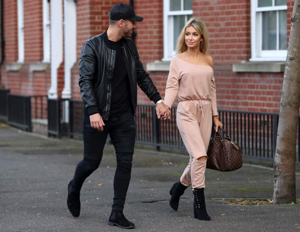 Jon Clark filming with new flame Charlotte Fox for TOWIE 19 October